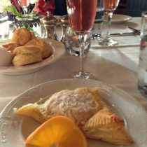 apple turnover with cran mimosa
