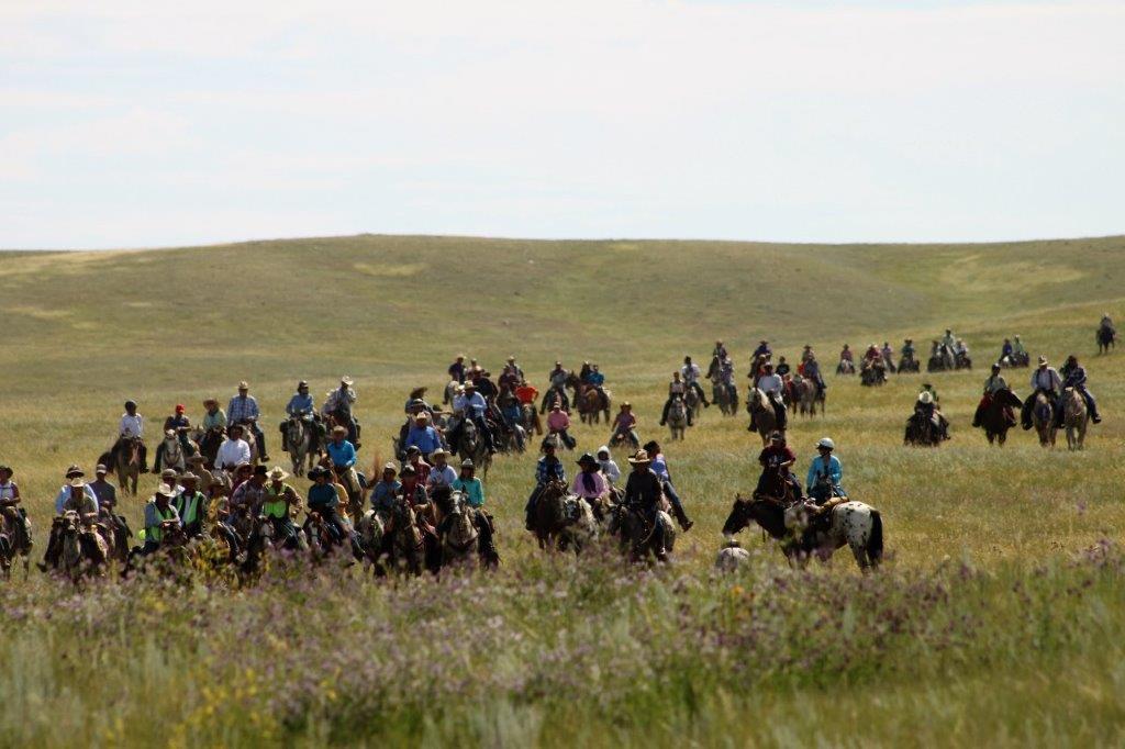 Chief Joseph Trail riders on horseback