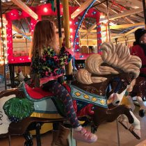 Riding Shelby's Carousel