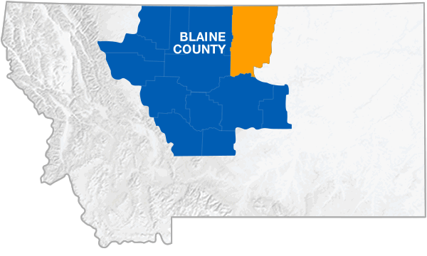 Blaine County Montana Map