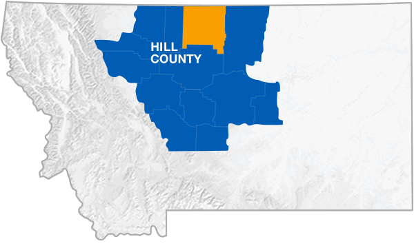 Hill County Montana Map