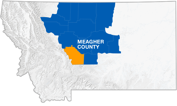 Meagher County Montana Map