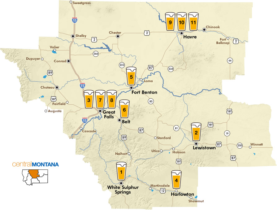 Central Montana Breweries