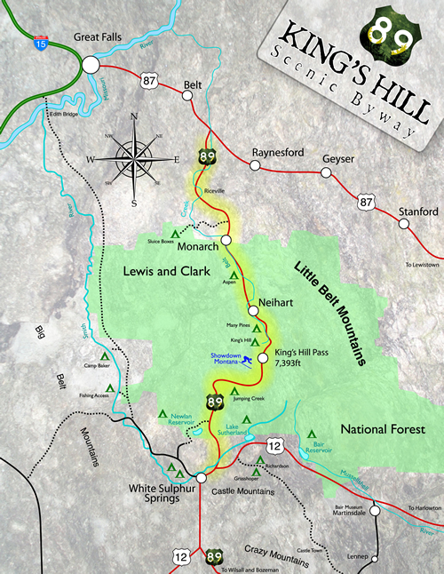 Kings Hill Scenic Byway Map