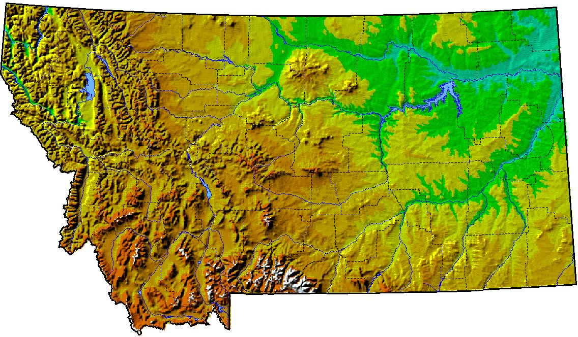 Area Map Central Montana - Map of montana cities